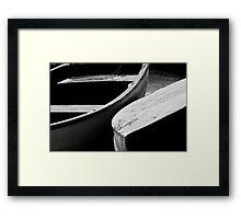 Wooden boats Framed Print