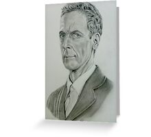 Peter Capaldi as the twelfth Doctor Greeting Card