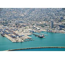Aerial Photography of Haifa Harbour, Israel  Photographic Print