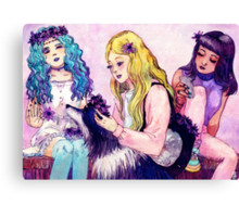 Flower Crowns Canvas Print