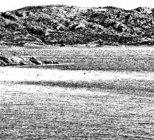 Island La Maddalena: sea landscape building and boats Sticker