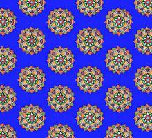 Earthy Geometric Mandala by Colette Diedricks