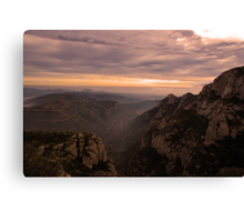 River Llobregat Escapes Mountains for Freedom of the Sea Canvas Print