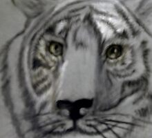 White Tiger Healer of Spirit by coppertrees