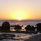 Sunset Over Rocks by CJPhotos