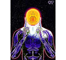 MIND #2 - Expanded Consciousness Psychedelic Thinking Man Telepathic Character Design Photographic Print