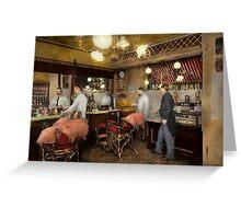 Barber - L.C. Wiseman Barbershop, NY 1895 Greeting Card