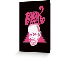 Pink Freud 3 Greeting Card