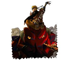 Naruto and Toad Boss Photographic Print