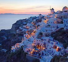 Oia Santorini Sunset by Yannis Larios