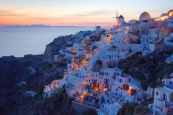 Oia Santorini Sunset by Yannis Larios