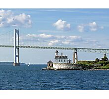 Lighthouse at Rose Island, Newport, Rhode Island | Bay series 2008 Photographic Print