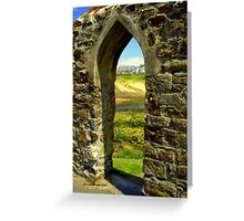 Bude Castle Archway Greeting Card