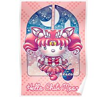 Hello Chibi Moon Poster