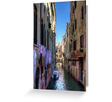 Washday in Venice Greeting Card