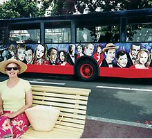 Bus Stop in Cannes by Gary  Crandall