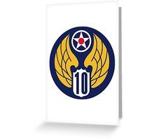 10th Air Force  WWII  USAAF Greeting Card