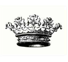 Vintage Crown Art Print