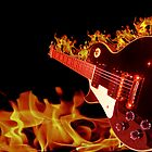 Guitar In Flames by Nathan Robinson