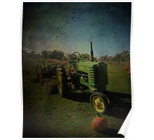 Yesteryear Antique John Deere Tractor on The Farm Poster