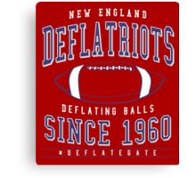 Deflate Gate - The New England Deflatriots Canvas Print