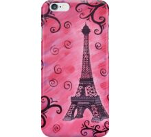 Eiffel Tower in Pink iPhone Case/Skin