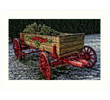 Yuletide Wagon Art Print