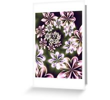 Flowers in Neon Greeting Card
