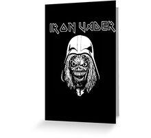 Iron Vader Greeting Card