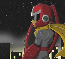 Proto Man in the Rain by The-Firestorm