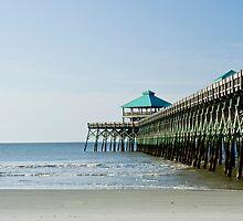Folly Beach Pier by Leta Davenport