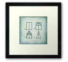 Paper Airplane 95 Framed Print