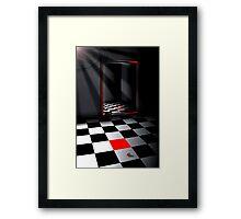 Square Red Framed Print
