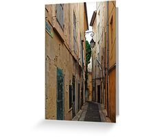 A Narrow Street in Aix-en- Provence, France Greeting Card