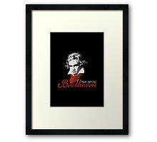 Beethoven piano virtuoso black Framed Print