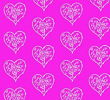I Love You White  Valentine Heart 12 by Heatherian