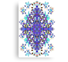 Carnival Colors in a floral pattern Canvas Print