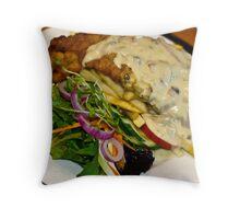 Food: Veal Schnitzel at Emeralds Restaurant  Throw Pillow