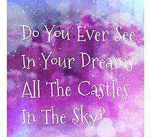 castles in the sky Photographic Print