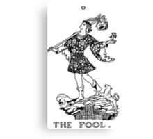 The Fool Tarot Card Canvas Print