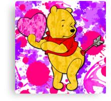 Pooh Bear Cupid Valentine Canvas Print