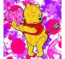 Pooh Bear Cupid Valentine Photographic Print