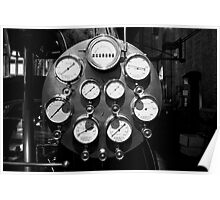 Steam gauges Poster