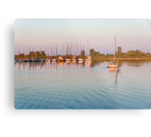 Impressions of Summer - Sailing Home at Sundown Metal Print