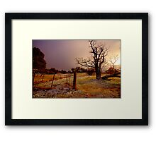 Golden Chill - Hill End - The HDR Experience Framed Print