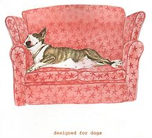 S IS FOR SOFA From A Bull Terrier's Alphabet. by threebrownhares