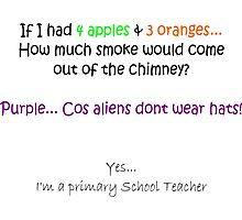Purple... Cos aliens don't wear hats! Photographic Print