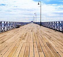 Pier in the Summer Sun by Silken Photography