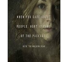 The Walking Dead: Beth - iPhone Case by sullat04