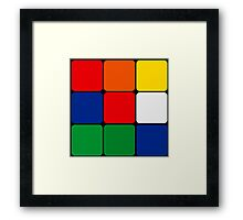 Multicolored Cube Design Framed Print